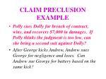 claim preclusion example
