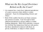 what are the key legal doctrines relied on by the court1