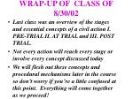 wrap up of class of 8 30 02