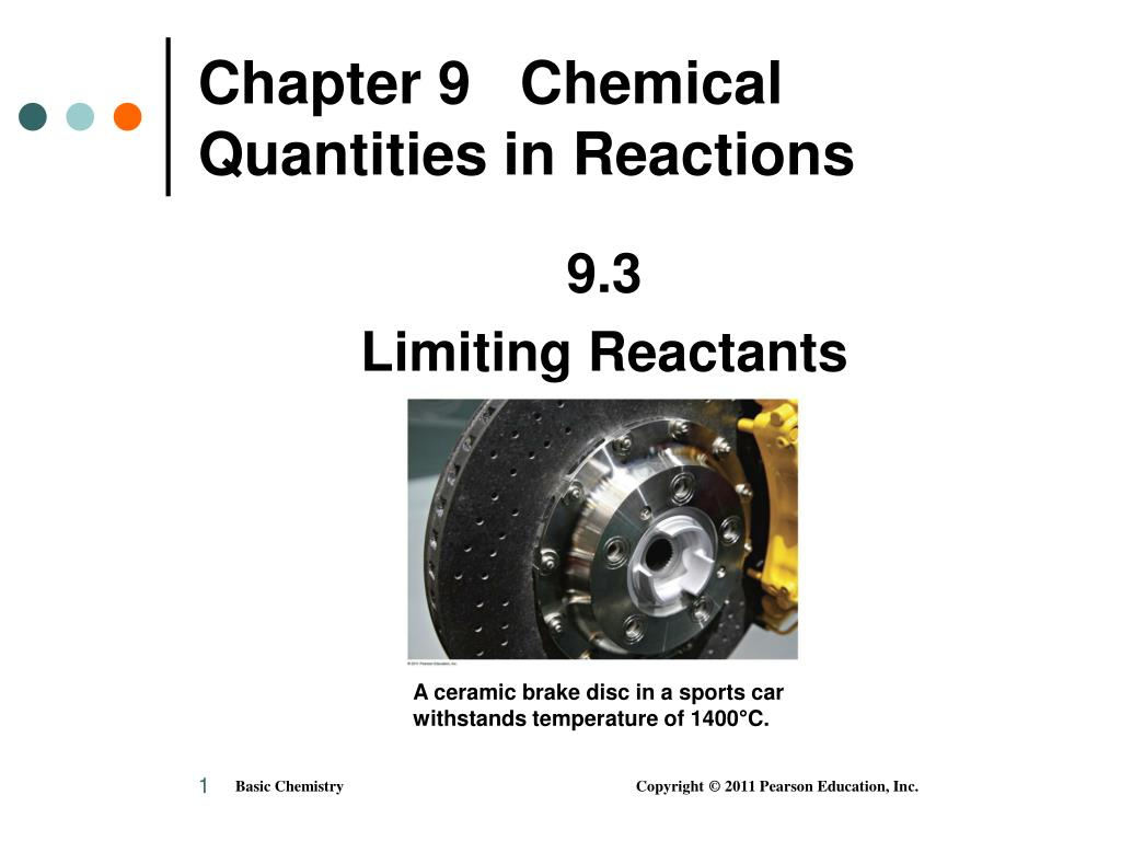 chapter 9 chemical quantities in reactions l.