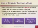 uses of computer communications8