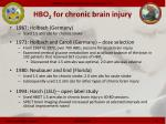 hbo 2 for chronic brain injury