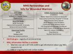 mhs partnerships and info for wounded warriors
