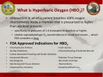 what is hyperbaric oxygen hbo 2
