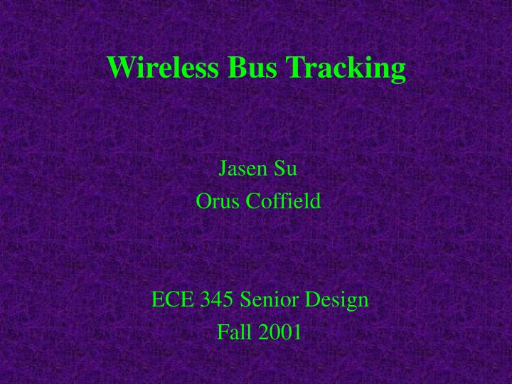 wireless bus tracking n.
