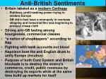 anti british sentiments