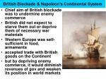 british blockade napoleon s continental system