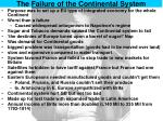 the failure of the continental system