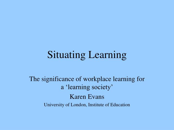 situating learning n.
