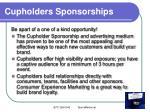 cupholders sponsorships