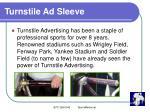 turnstile ad sleeve