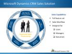 microsoft dynamics crm sales solution