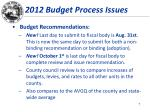 2012 budget process issues2
