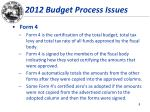 2012 budget process issues3