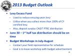 2013 budget outlook1