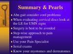 summary pearls