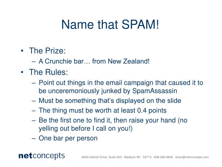 Name that SPAM!