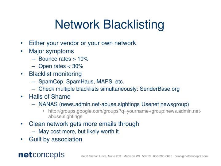 Network Blacklisting