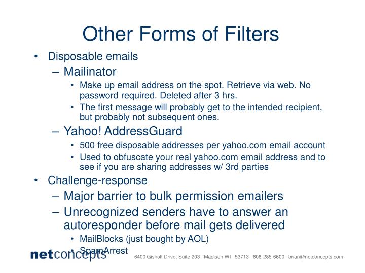 Other Forms of Filters