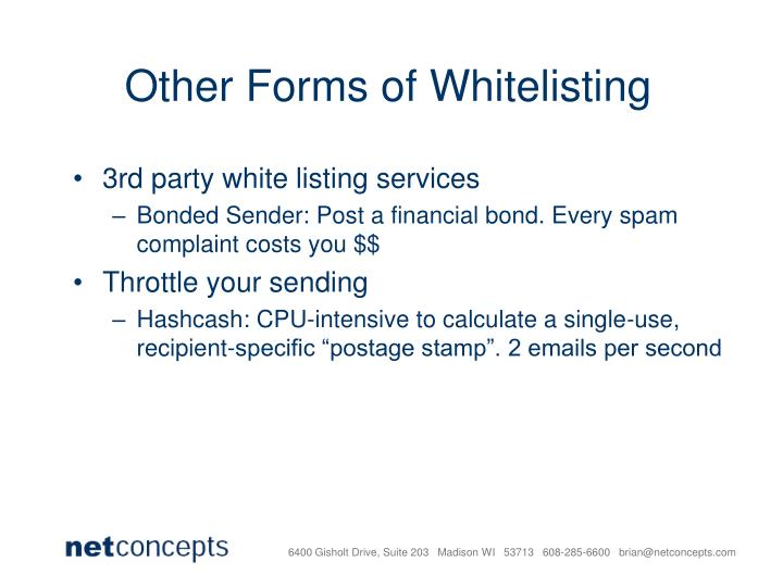 Other Forms of Whitelisting