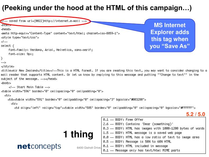 """MS Internet Explorer adds this tag when you """"Save As"""""""