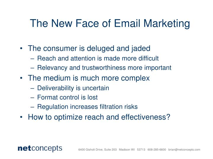 The New Face of Email Marketing