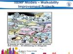 teemp models walkability improvement projects