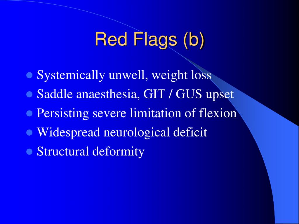 Red Flags (b)