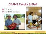 cfans faculty staff