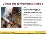 climate and environmental change