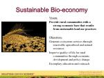 sustainable bio economy