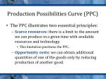 production possibilities curve ppc1