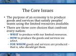 the core issues