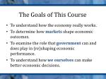 the goals of this course