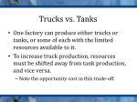 trucks vs tanks