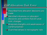 cap allocations task force
