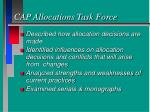 cap allocations task force1