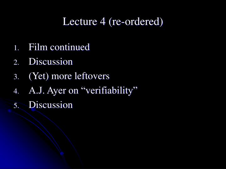 lecture 4 re ordered n.