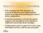 support for county collaboratives