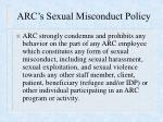 arc s sexual misconduct policy