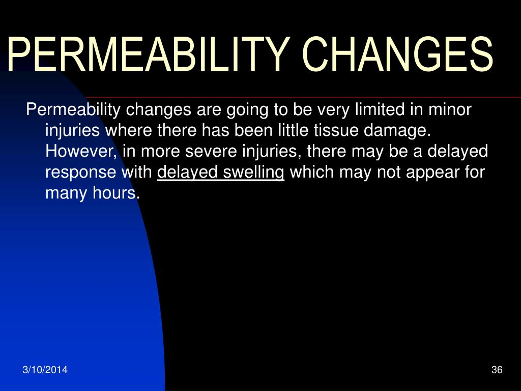 PERMEABILITY CHANGES