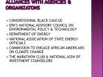 alliances with agencies organizatons