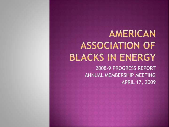 american association of blacks in energy n.