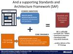 and a supporting standards and architecture framework saf