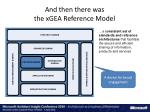 and then there was the xgea reference model