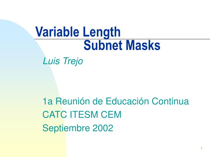 variable length subnet masks n.