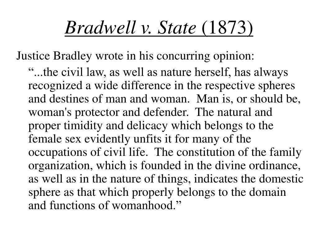 Bradwell v. State