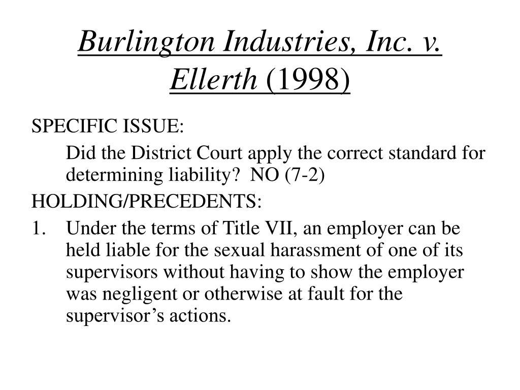 Burlington Industries, Inc. v. Ellerth
