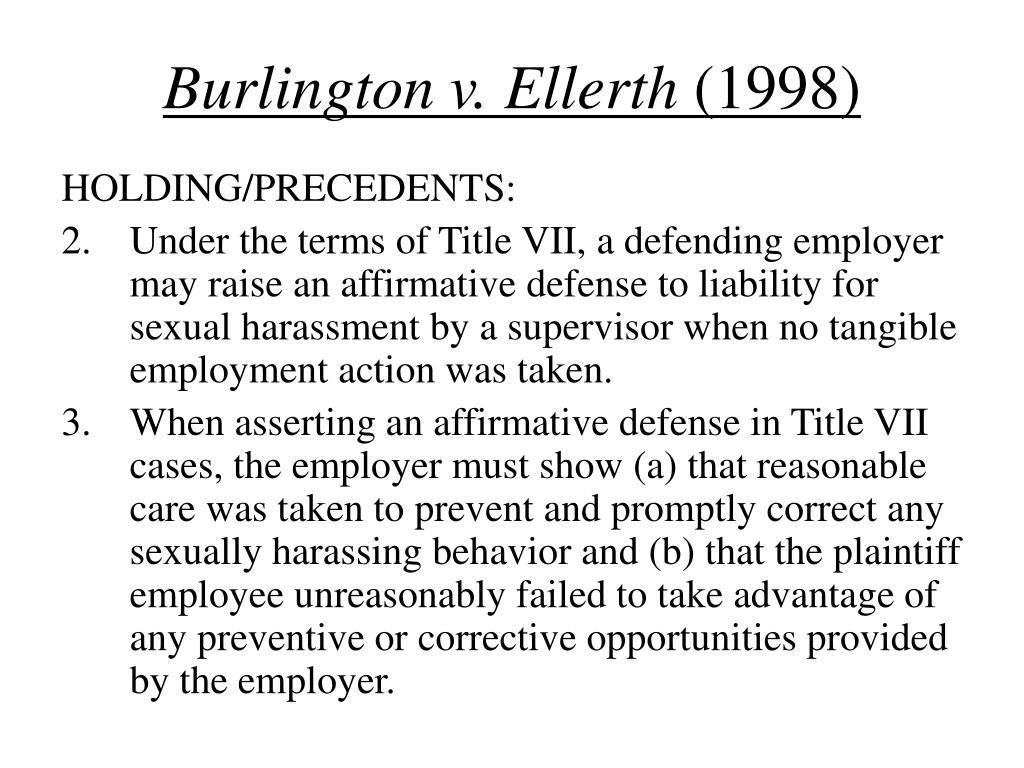 Burlington v. Ellerth