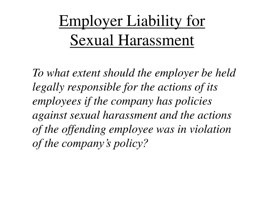 Employer Liability for